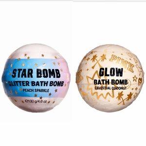 VS PINK Glitter Star Coconut Glow Bath Bomb Set